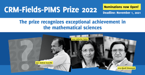 2022 CRM-Fields-PIMS Prize Call for Nominations
